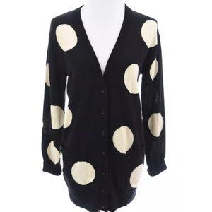 RARE Kate Spade 100% Wool Polka Dot Cardigan Sz S